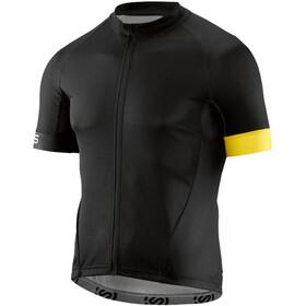 Skins Cycle Classic SS Jersey Men Full Zip black/citron
